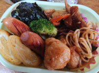 炊き込みご飯と干し鱈の旨煮弁当